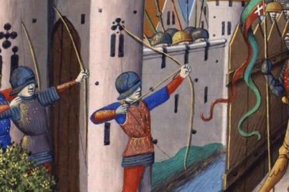 Illustration médiévale du Berceau de la langue