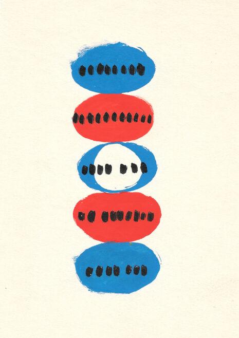 Étude préparatoire pour l'identité visuelle du TNP, Marcel Jacno, 1951