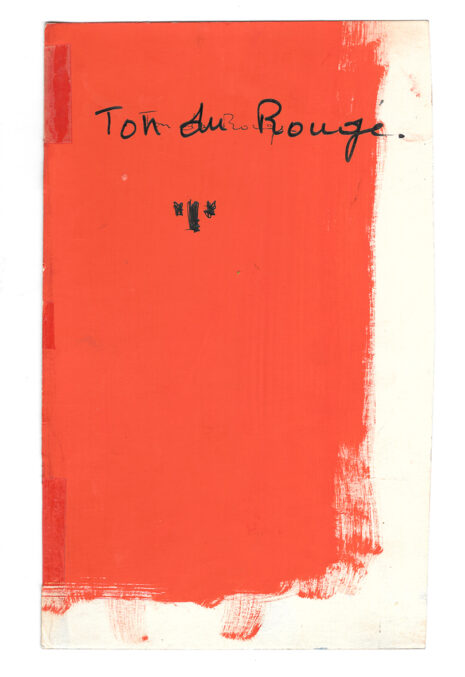 Essai de couleur pour le logo du TNP, Marcel Jacno