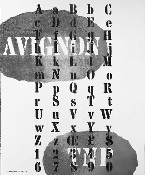 Alphabet du caractère Chaillot pour le TNP, Marcel Jacno